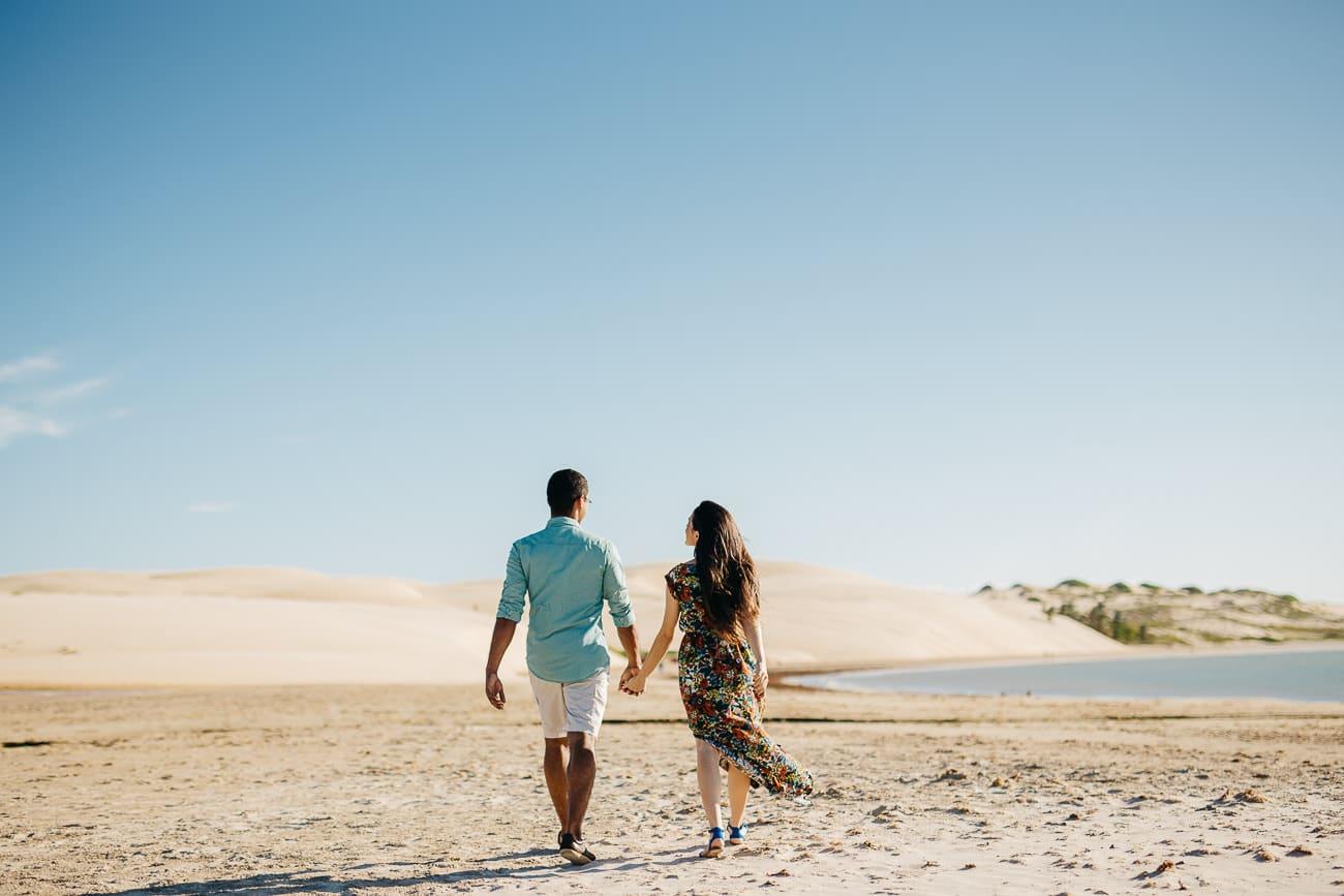 Fotos de pré casamento na praia