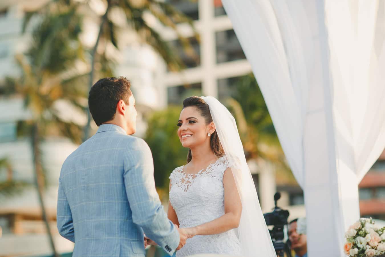 Fotografias de casamento no Iate Clube de Fortaleza-CE