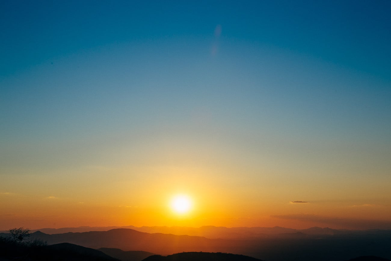 por do sol em aratuba serra
