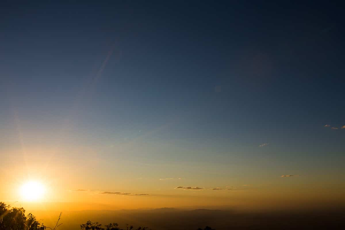 Por do Sol no Pico Alto em Guaramiranga