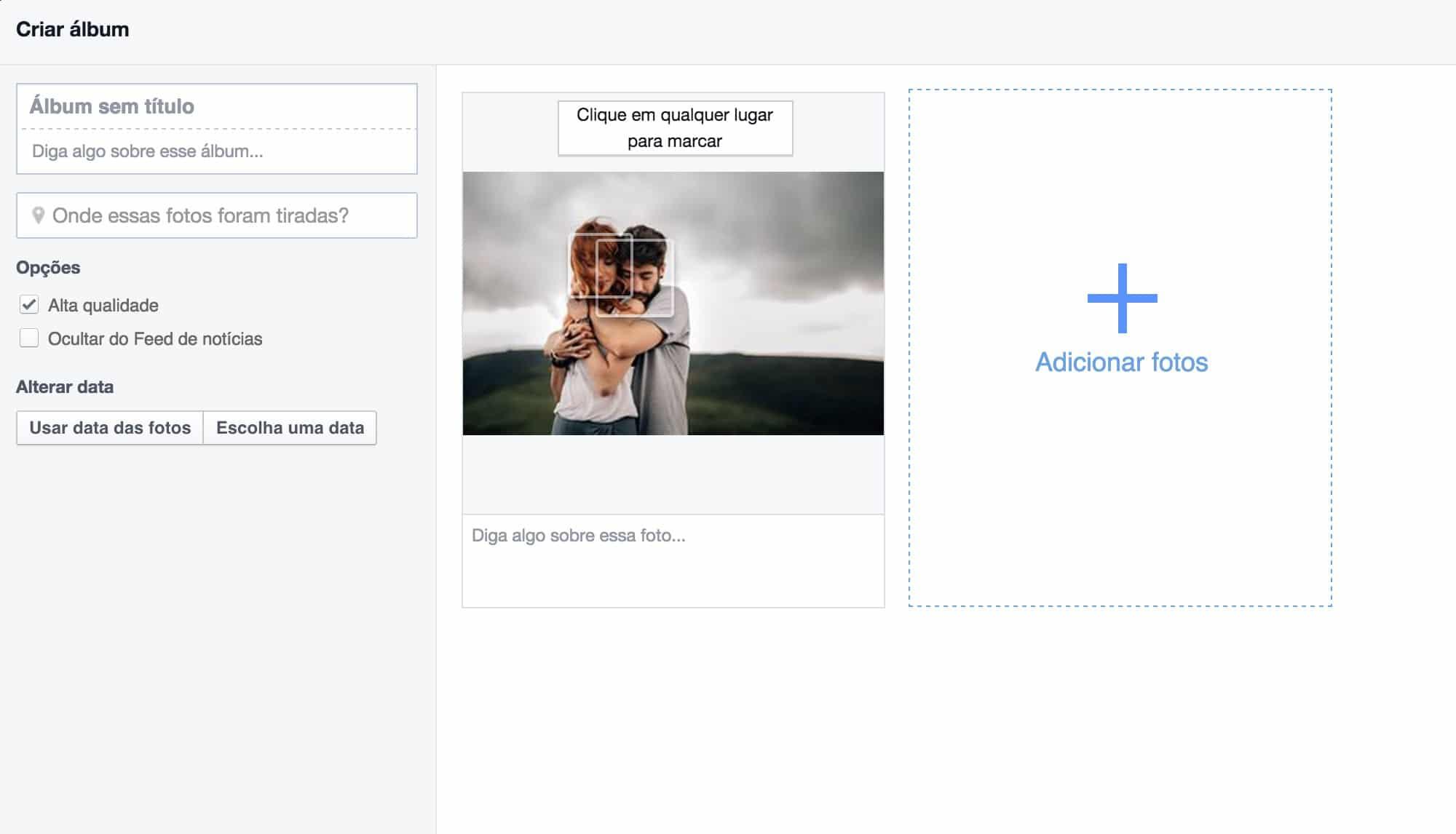 como otimizar imagem para facebook lightroom