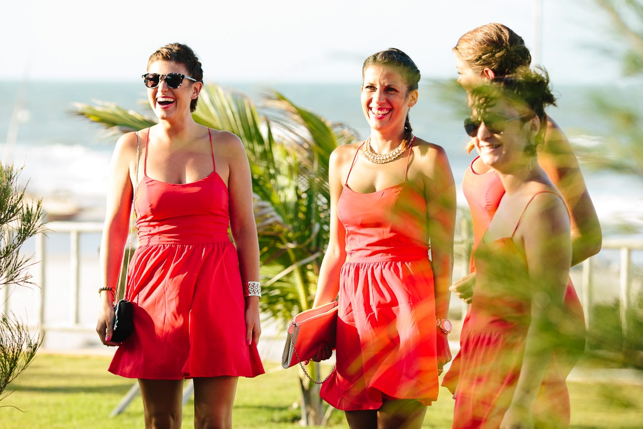 demoiselles casamento na praia