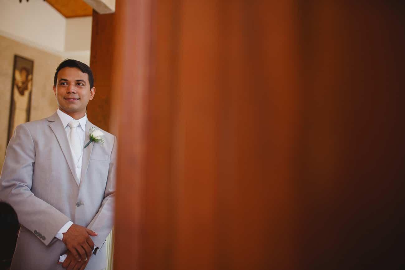 noivo em Casamento na Igreja de São João Eudes