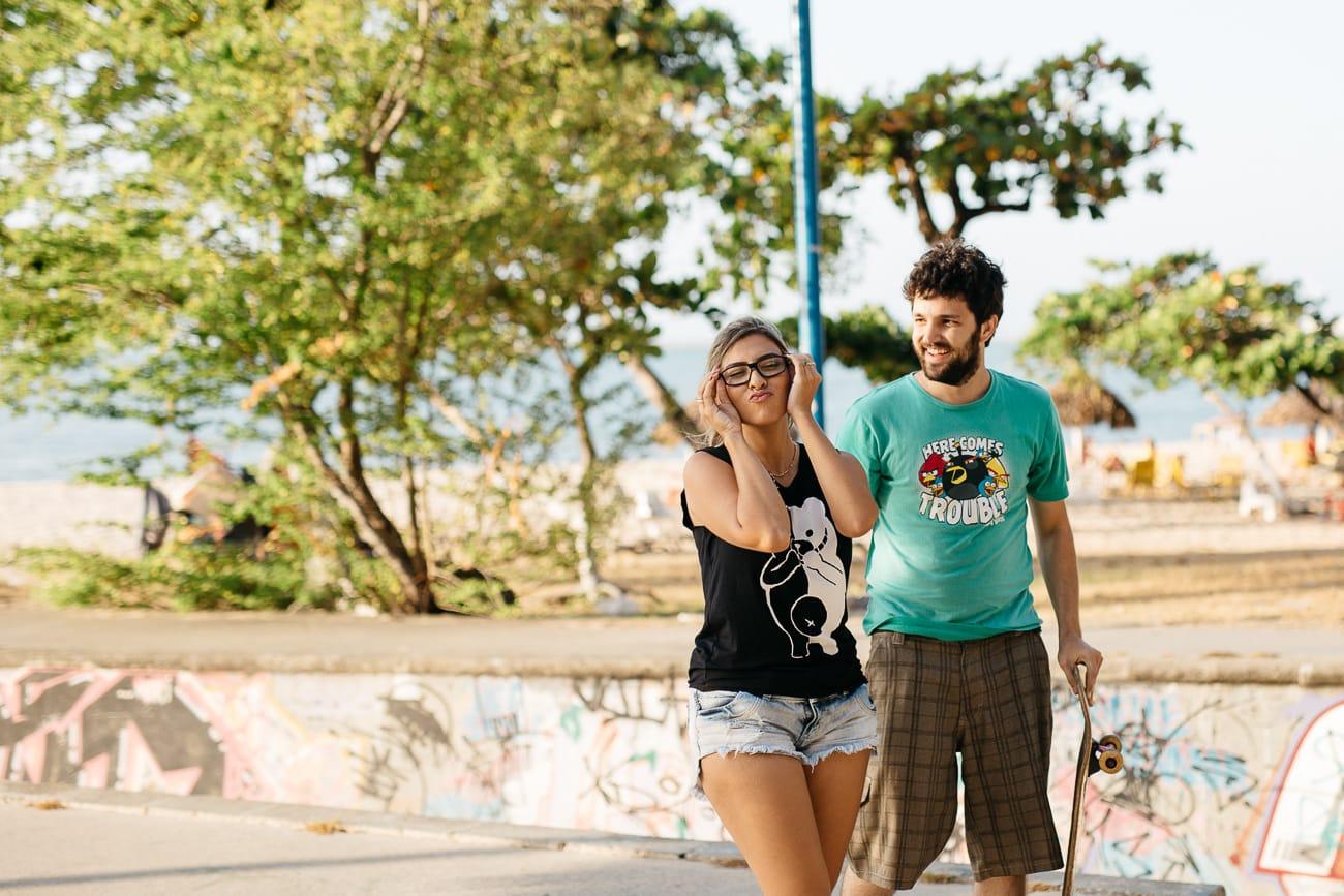 Fotos de casal andando de skate