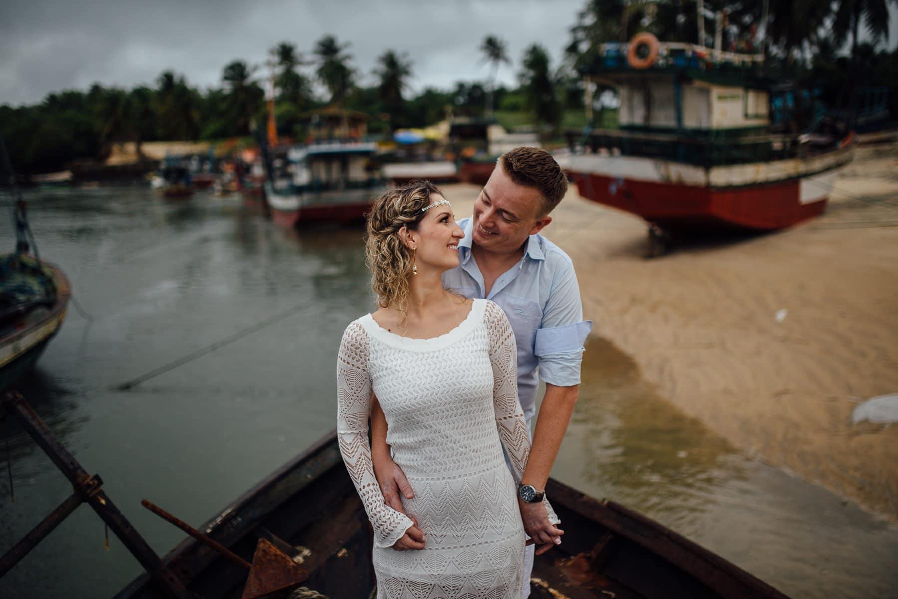 Fotos de casal na praia em Mundaú Beach