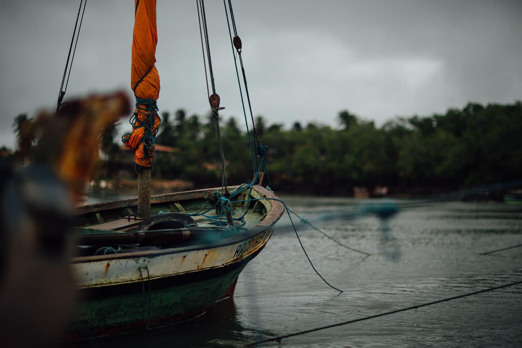 Barco na Barra do Rio Mundaú