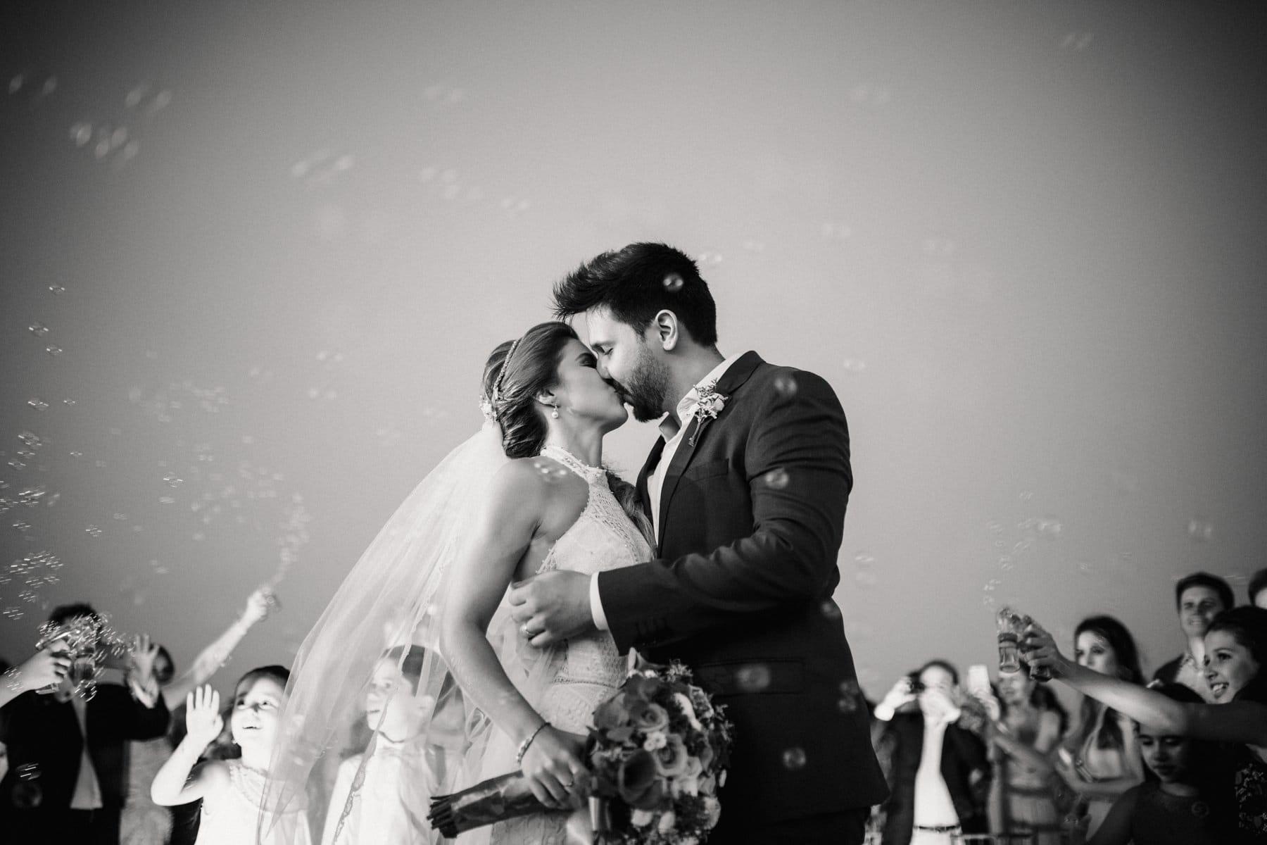 bolha de sabão saída dos noivos