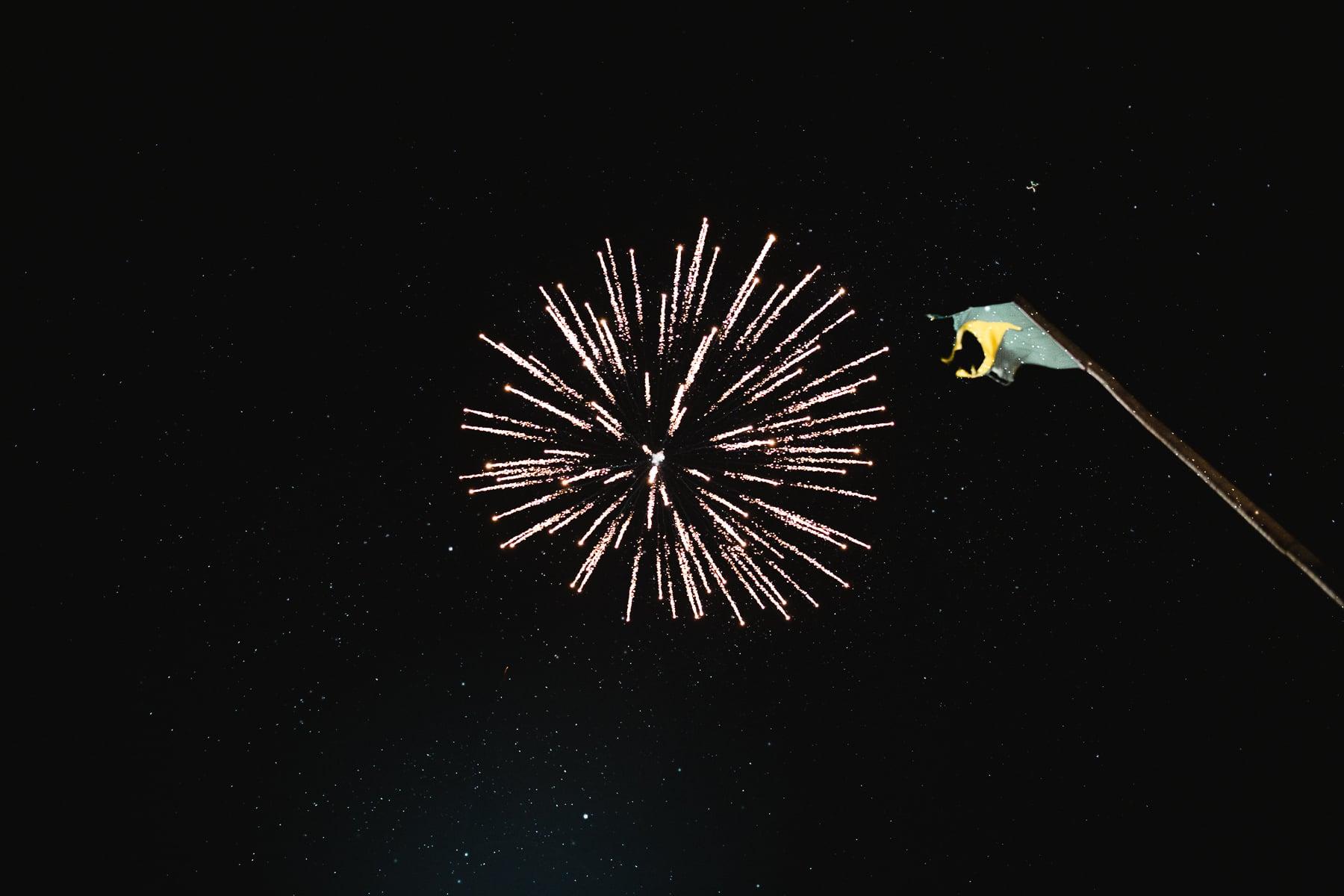 fogos de artificio casamento