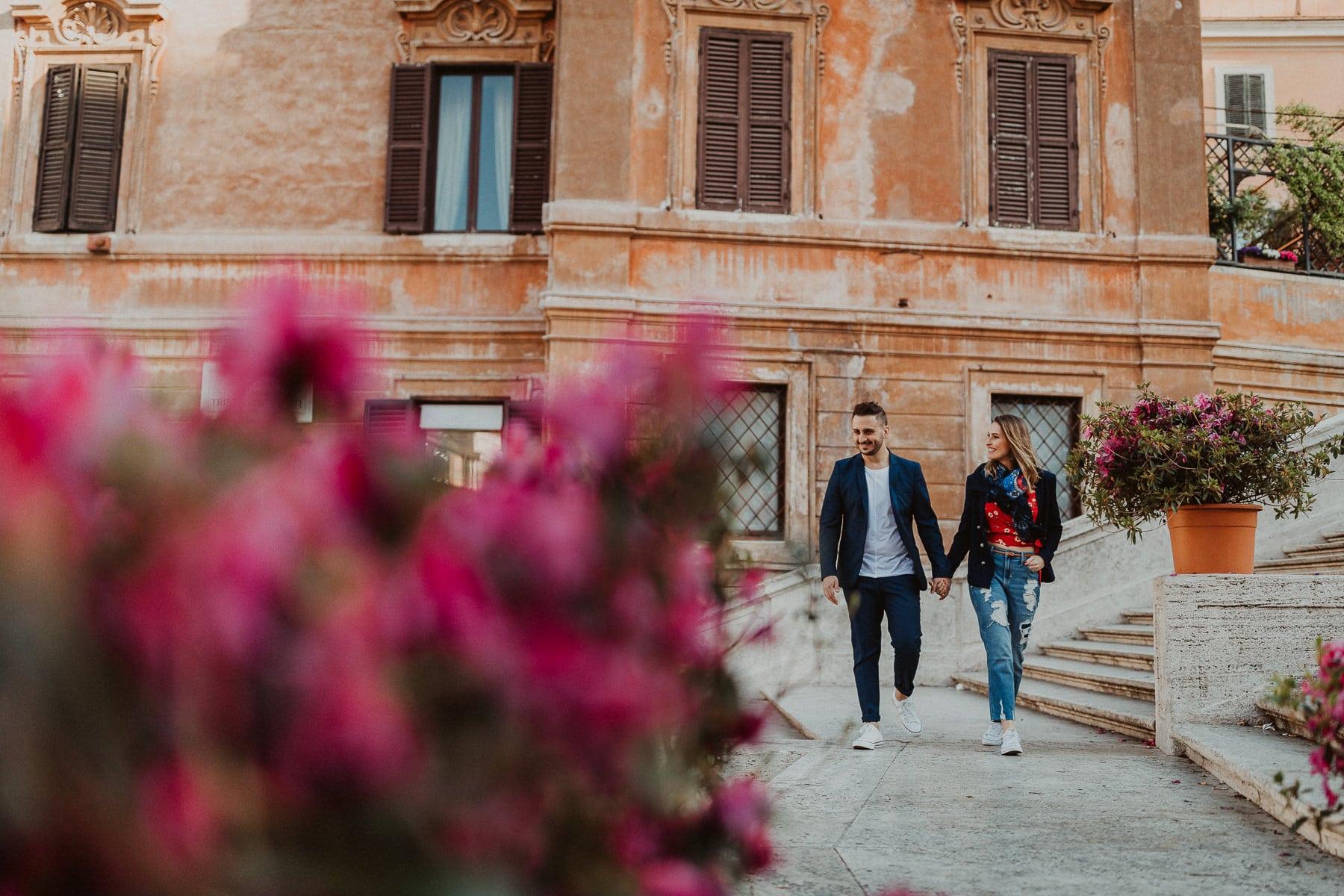 ensaio pre casamento em roma