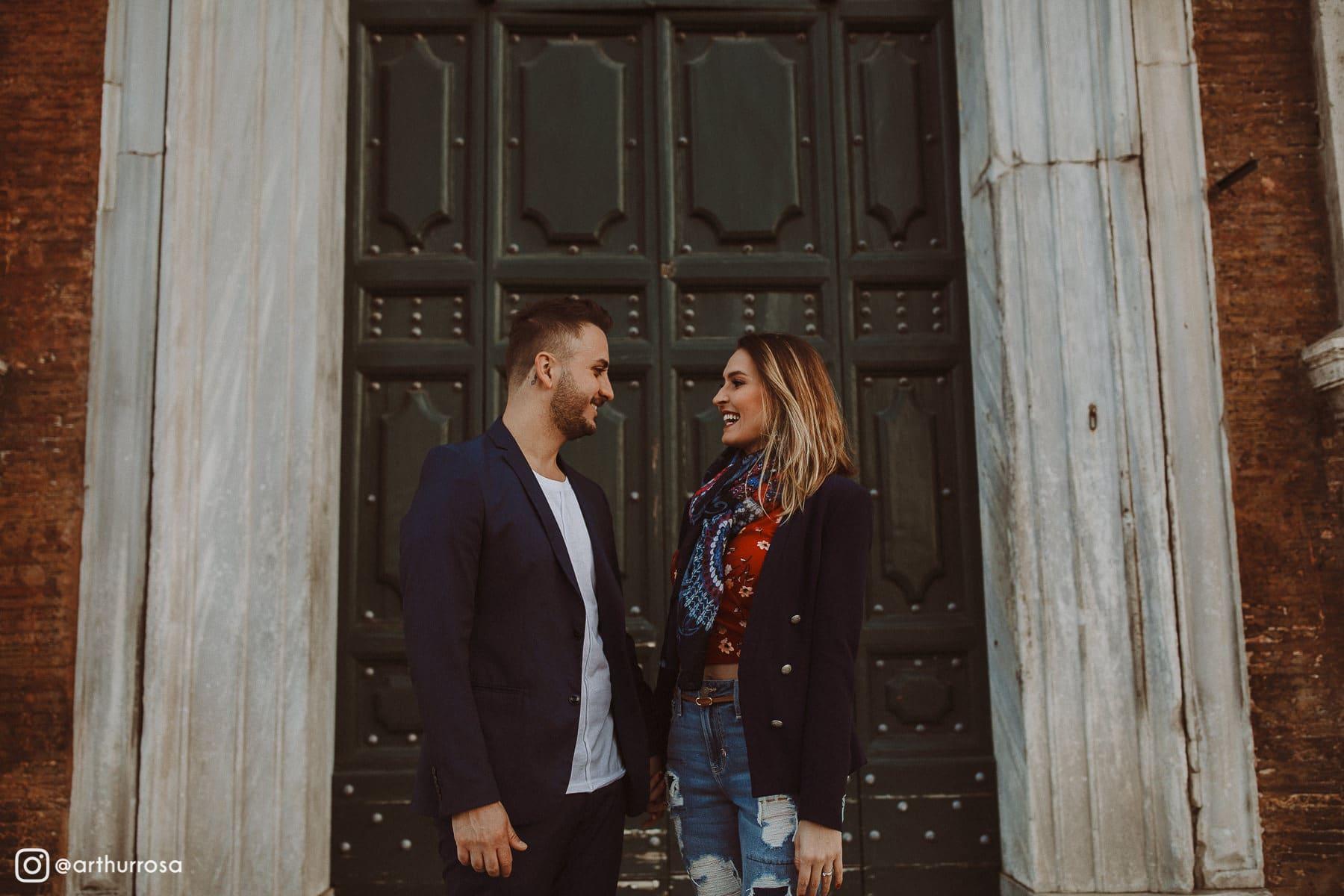 ensaio pré-casamento em roma