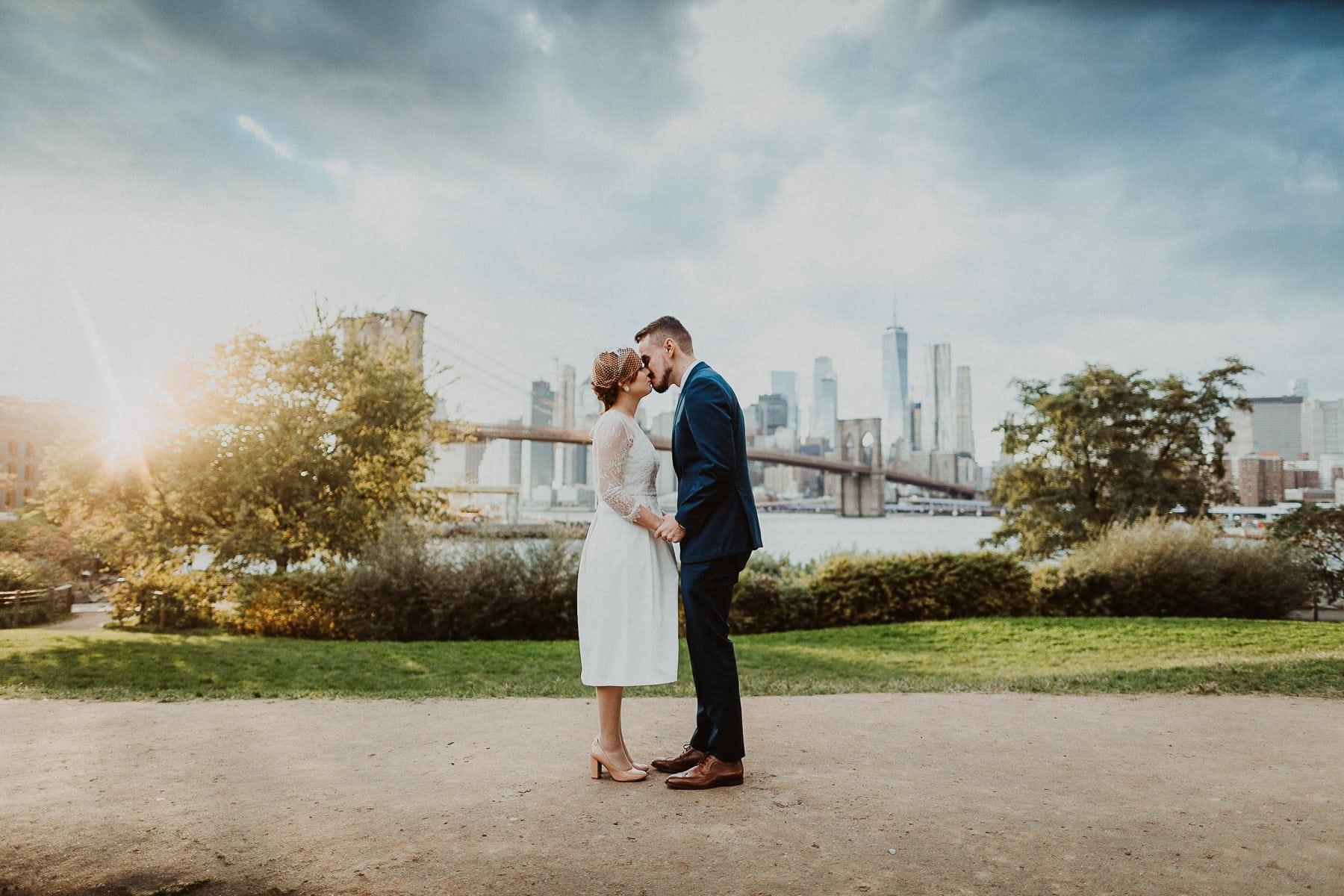 elopement wedding brooklyn bridge